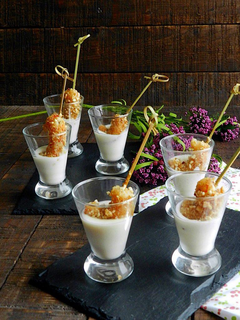Vasos Gambas Crujientes con Parmesano Foto de La cocina de Vifran